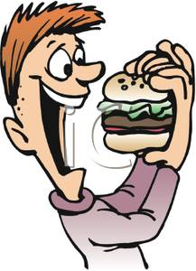 Similiar People Eating Hamburgers Clip Art Keywords