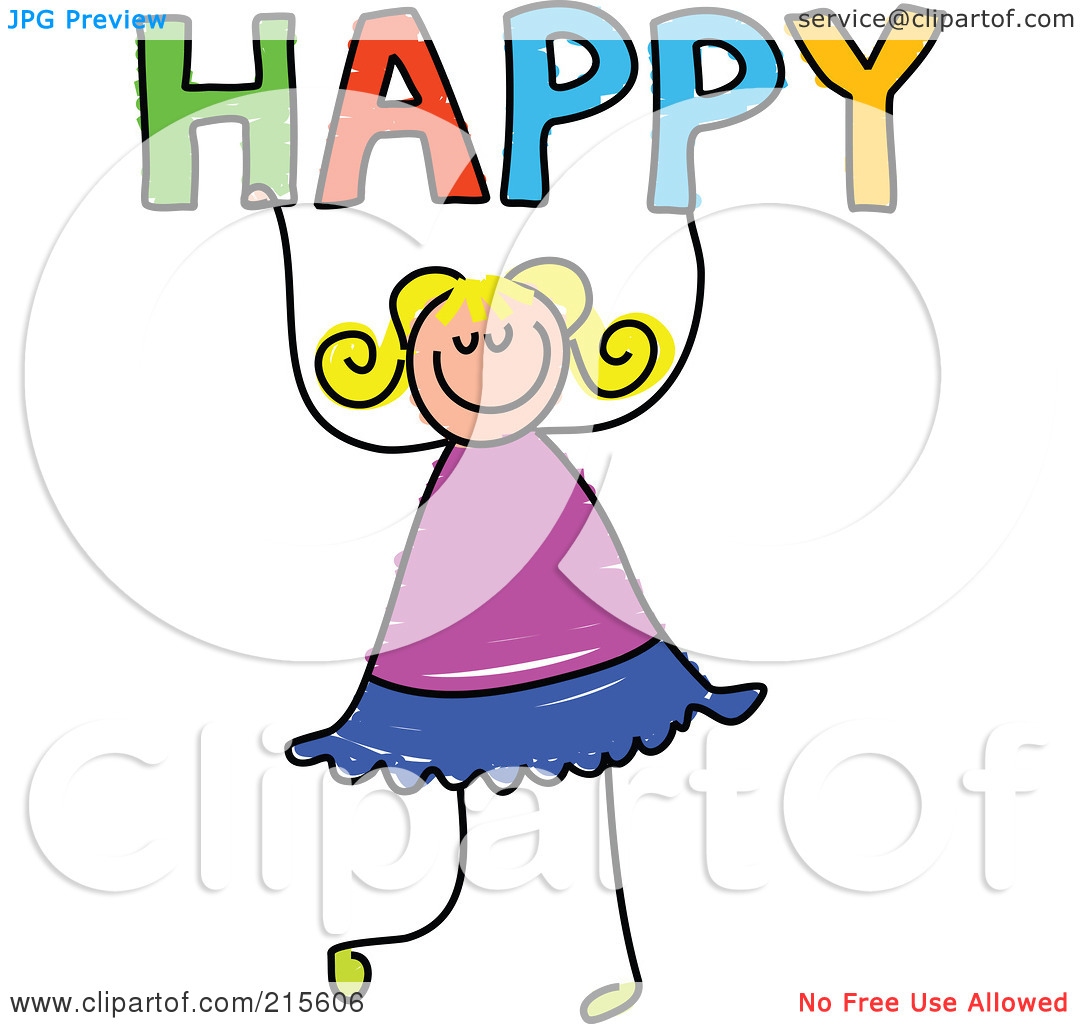 Happy Person Jumping Clipart