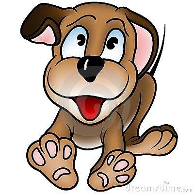 Clip Art Smiling Puppy