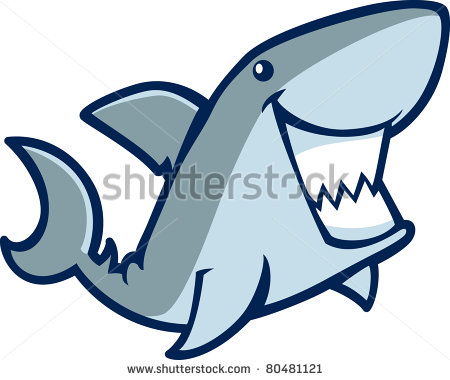 Happy shark - stock vector | Clipart Panda - Free Clipart ...