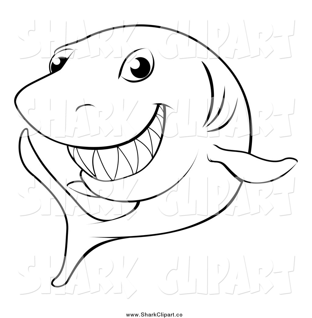 Shark Clipart Black And White Clipart Panda Free