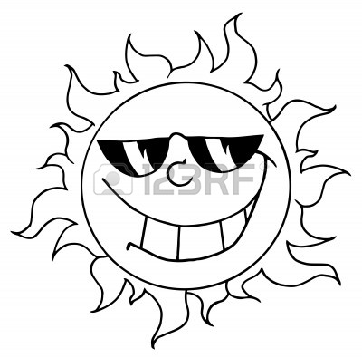Sun Simple Drawing Happy Sun With