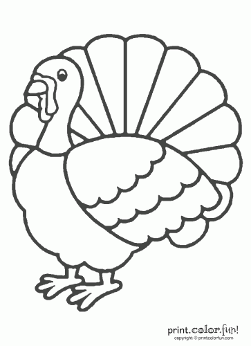 Happy Thanksgiving Turkey Coloring Pages Clipart Panda