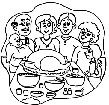 coloring pages dinner - photo#20