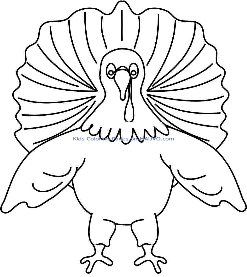 free turkey coloring pages for preschoolers - happy thanksgiving turkey wallpaper clipart panda free