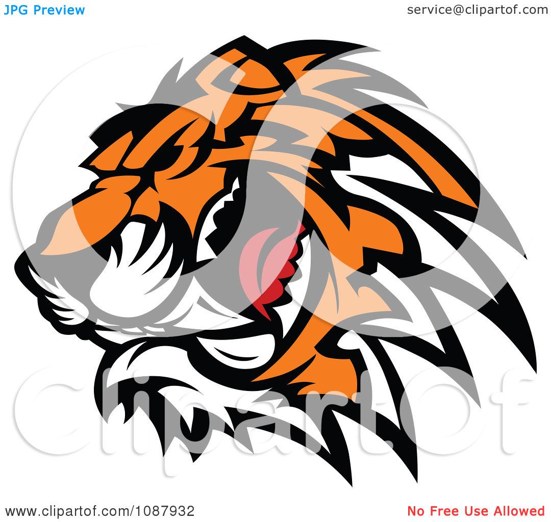 free clip art tiger head - photo #30
