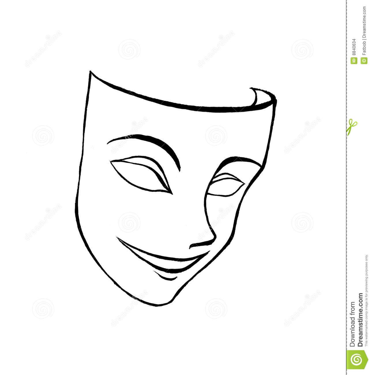 Smiling tiki mask