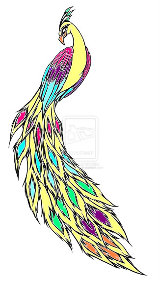 Hard Peacock Coloring Pages Clipart