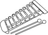 Xylophone Clip Art Black And Xylophone Outline