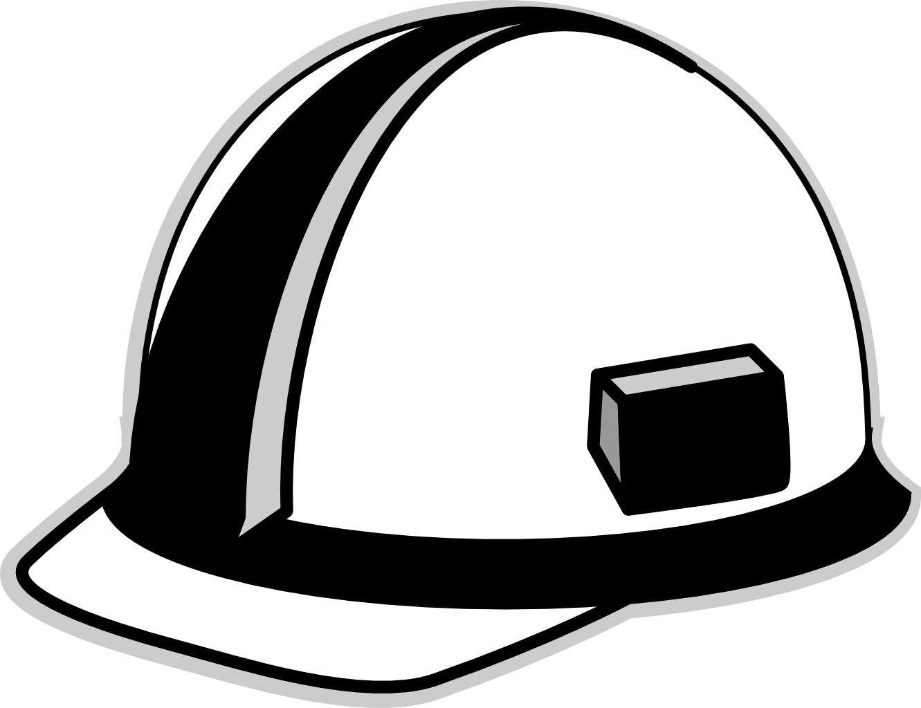 Line Drawing Hat : Hat clipart black and white panda free