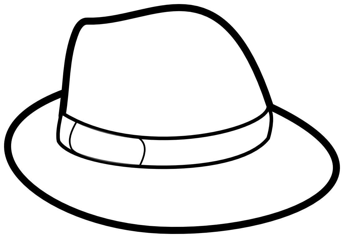Black And White Hat Part : Hat clipart black and white panda free