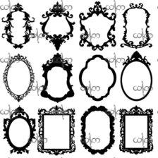 Baroque Frames Clip Art Clipart Panda Free Clipart Images
