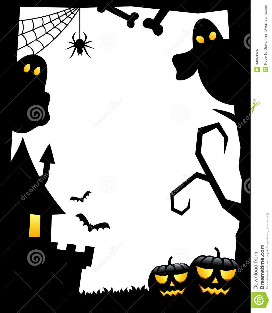 Pics photos halloween clip art boarded haunted house dennis - Halloween black and white ...