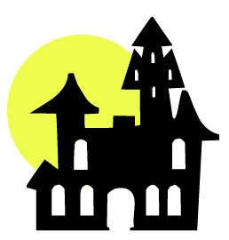 Haunted House Clipart Black And White | Clipart Panda - Free ...