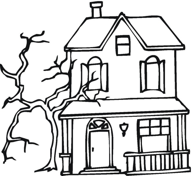 coloring pages haunted house - photo#3
