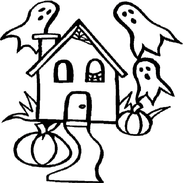 Coloring Pages Of Haunted Houses