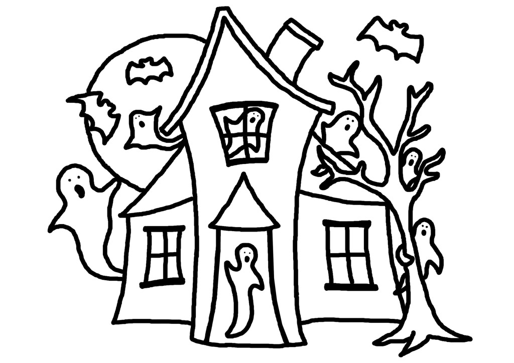 Haunted House Coloring Page | Clipart Panda - Free Clipart Images