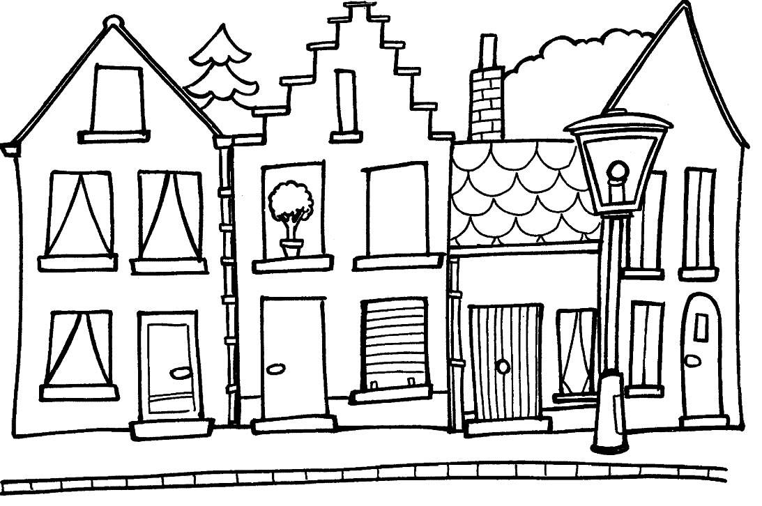 Haunted house coloring page clipart panda free clipart for Houses coloring pages