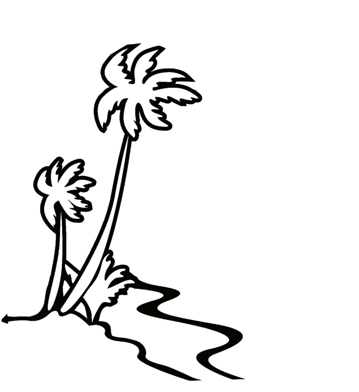 Hawaii Line Drawing Hawaiian Clipart
