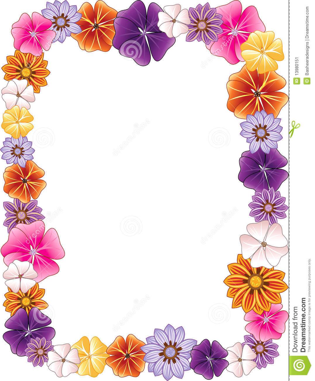 Flower Border Clip Art at Clker.com vector clip art online, royalty ...