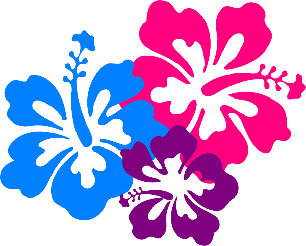 hawaiian flower clip art borders  clipart panda  free clipart images, Beautiful flower