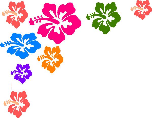 hawaiian flower border clip art clipart panda free