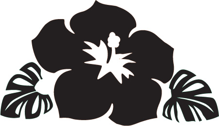 Hawaiian Flower Clip Art Black And White Clipart Panda Free