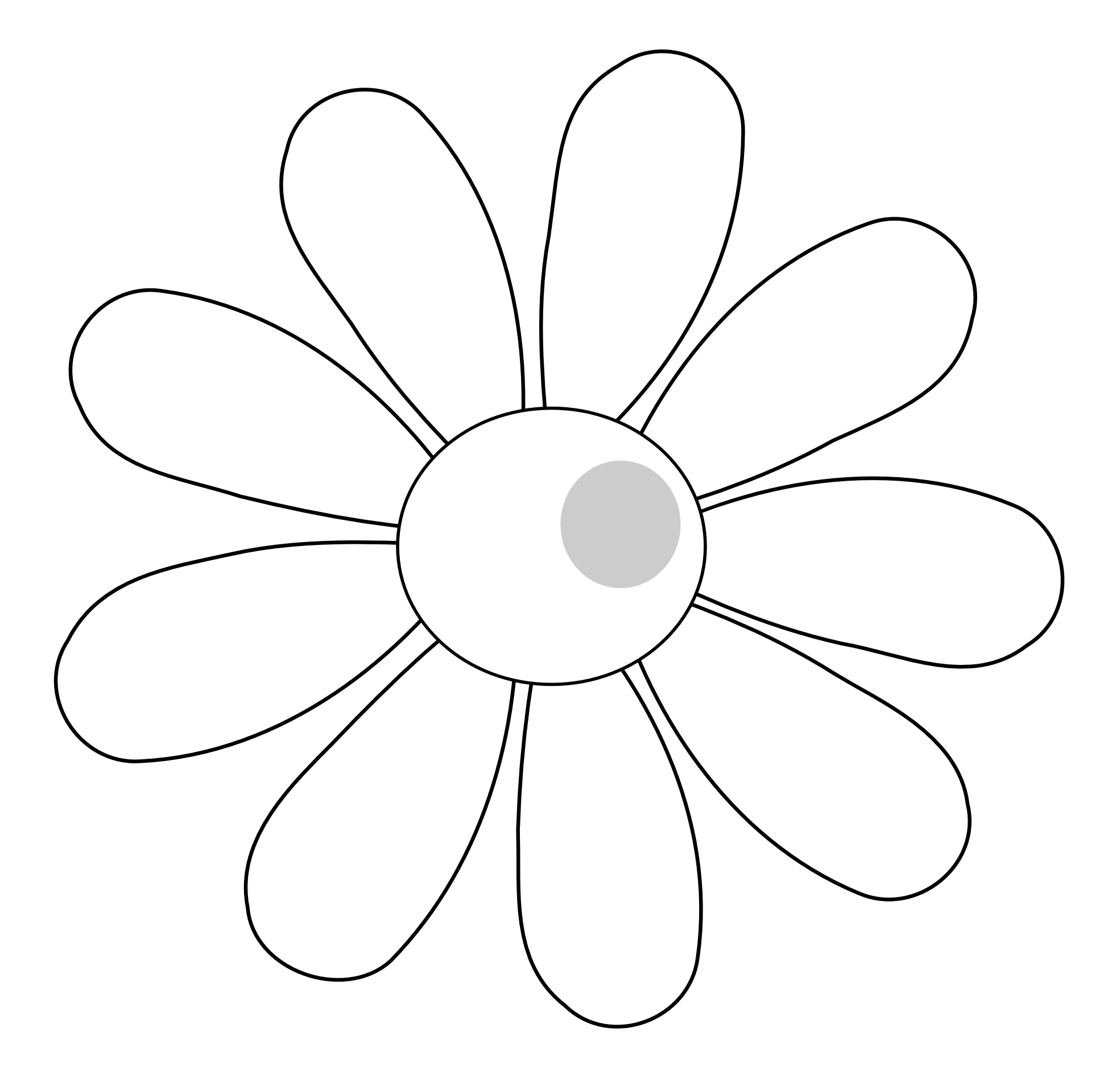 Simple Vector Line Art : Hawaiian flower clip art black and white clipart panda