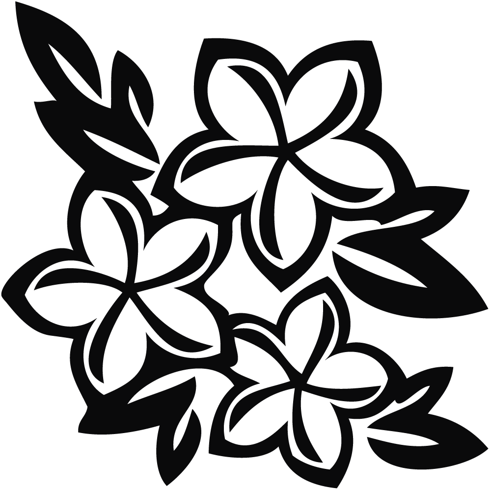Hawaiian flower clip art black and white clipart panda free hawaiian20flowers20clip20art dhlflorist Image collections