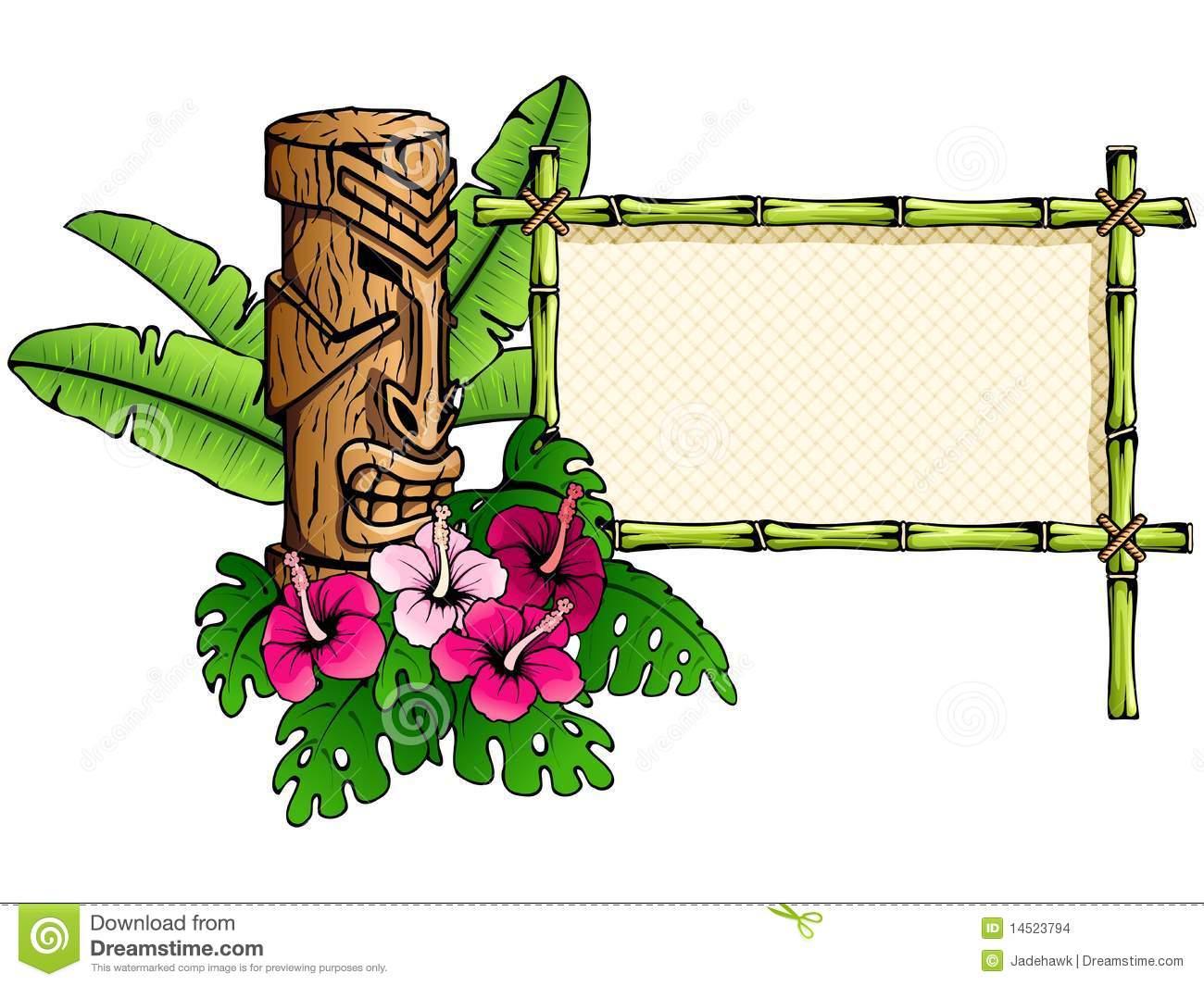 hawaiian tiki clip art borders clipart panda free clipart images. Black Bedroom Furniture Sets. Home Design Ideas