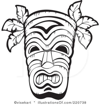 Hawaiian Tribal Clip Art Black And White Clipart Panda
