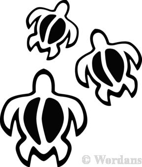 Hawaiian Turtle Symbol Clipart Panda Free