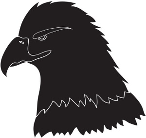 hawk%20clipart%20black%20and%20white