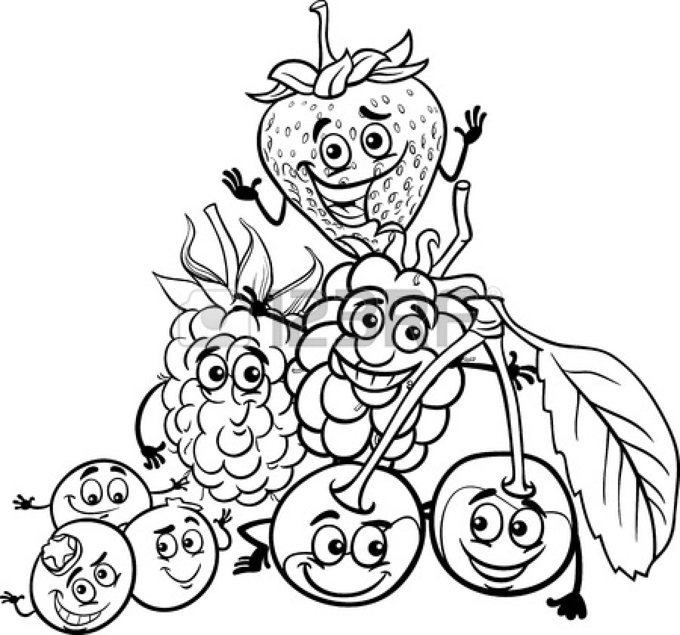 Healthy Food Clipart Black And White Clipart Panda