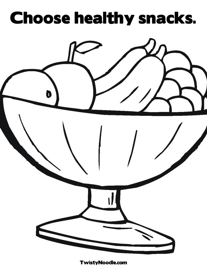 Healthy Food Coloring Pages Clipart Panda Free Clipart Images