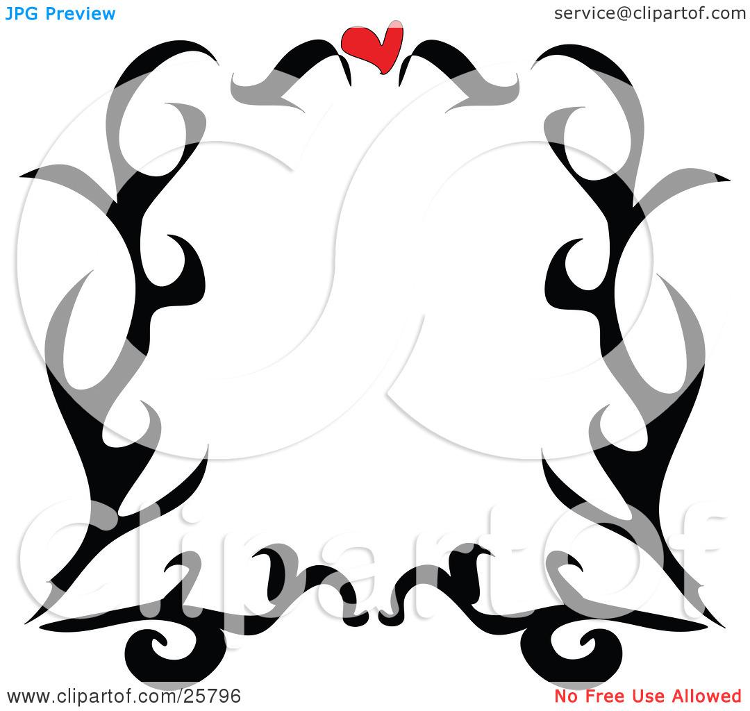 Frame clip art black and white clipart panda free clipart images - Heart 20border 20clipart 20black 20and 20white