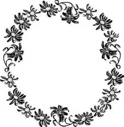 Clipart Flower Black And White Border | Clipart Panda ...