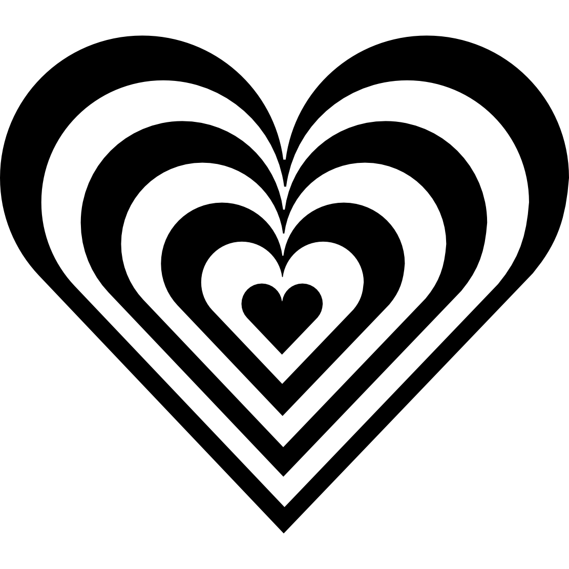 Clip Art Black And White Heart Clipart clipart heart black and white panda free images