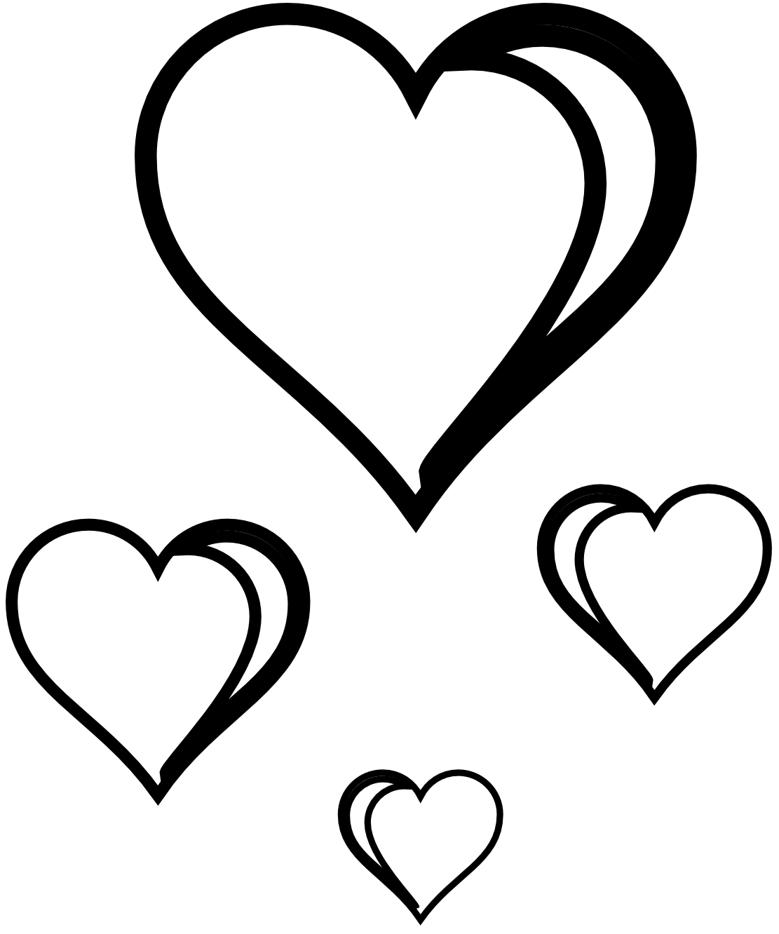 Line Art Love Heart : Clipart heart black and white panda free