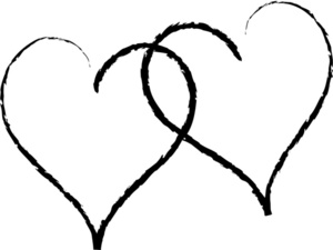 Heart Outline Black And White