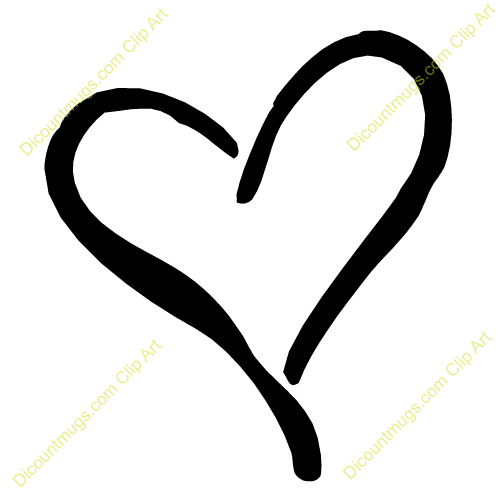 Beautiful Heart Outline Clip Art