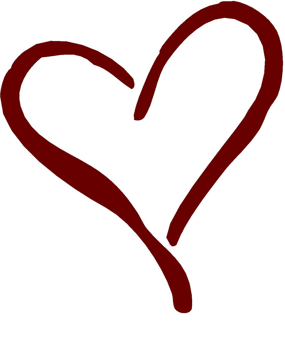 Line Art Heart Shape : Clipart heart outline panda free images