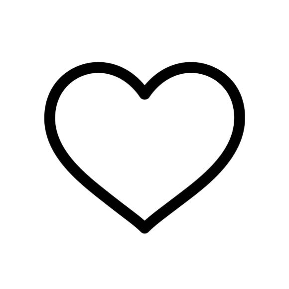Line Art Heart Outline : Black heart outlines clipart panda free images