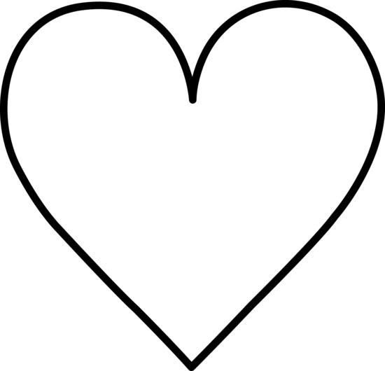heart outline black and white clipart panda free