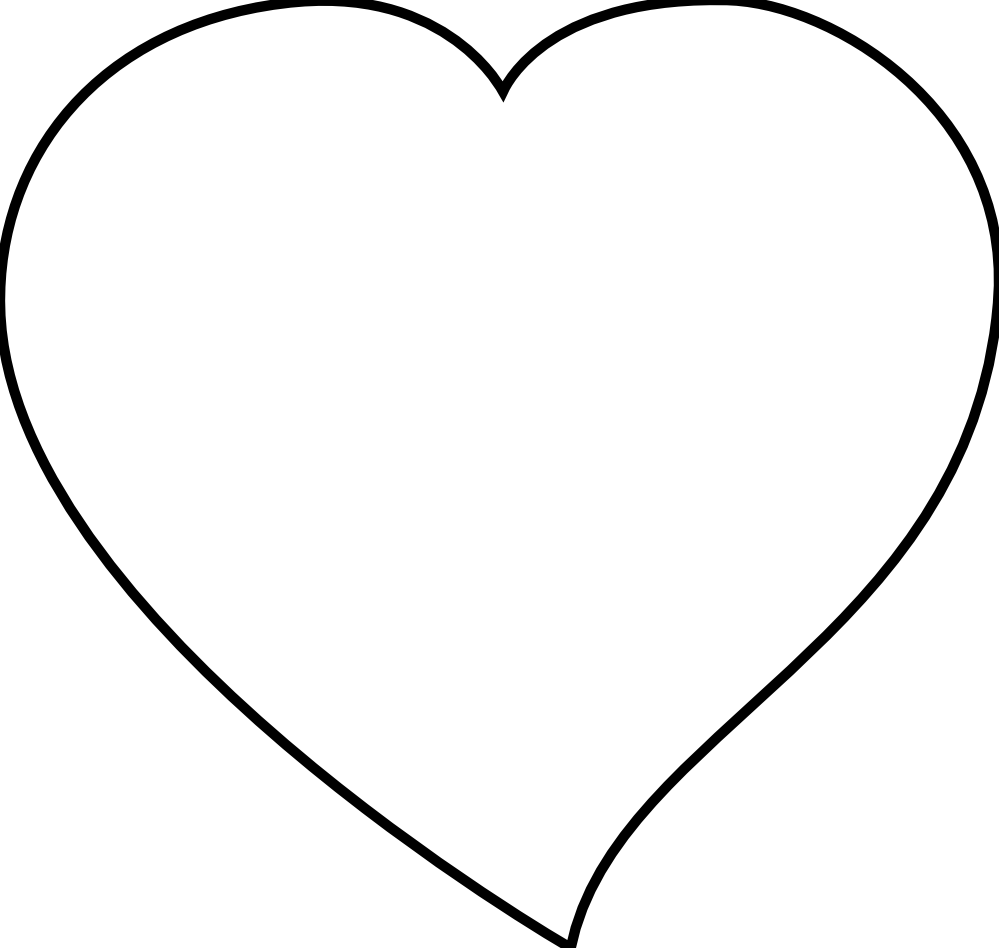 Line Art Heart Outline : Heart outline clipart black and white panda