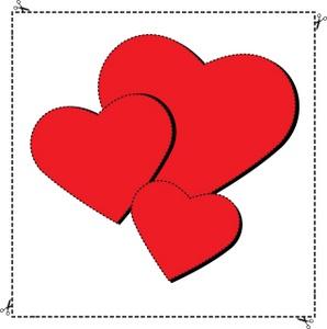 Valentine Heart Shape Clip Art – Clipart Download
