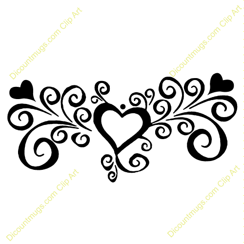 Heart Swirls Clipart | Clipart Panda - Free Clipart Images