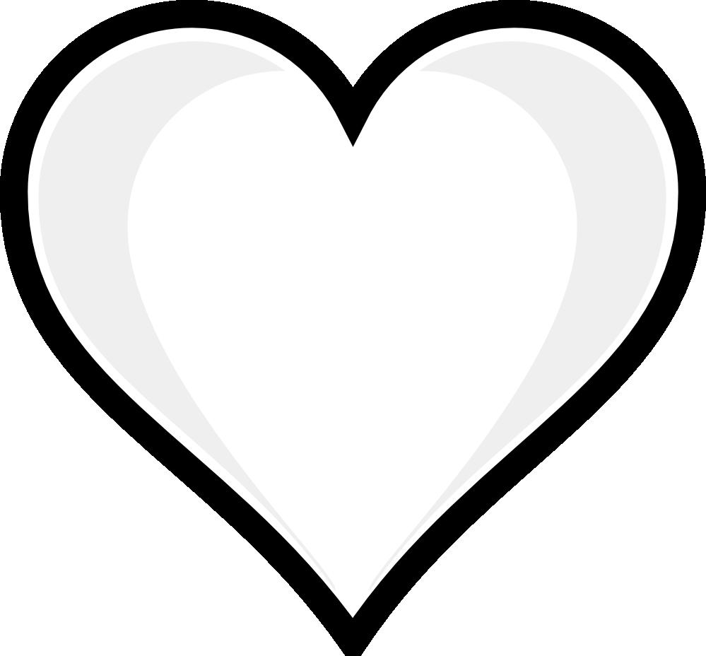 Line Art Heart Outline : Black heart outlines clipart panda free images