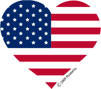 heck20clipart - American Flag Heart Coloring Pages