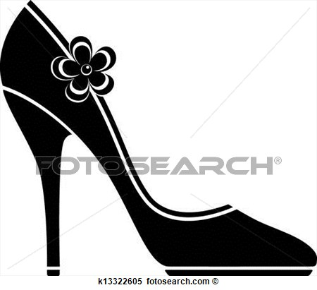High Heel Shoe With Bow Vector